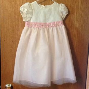 Little girls embroidered tulle dress size 4